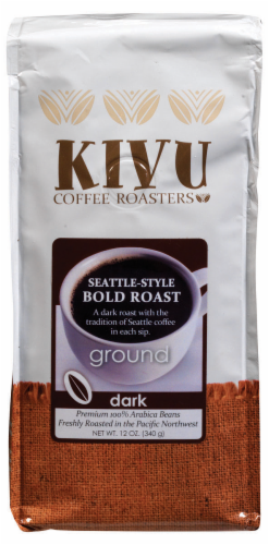 Kivu Seattle-Style Bold Roast Ground Coffee Perspective: front