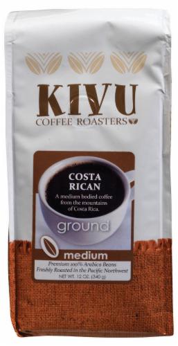 Kivu Costa Rican Medium Roast Ground Coffee Perspective: front