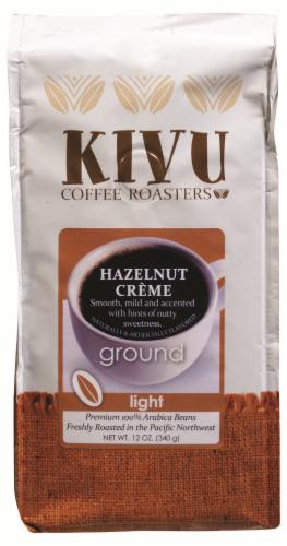 Kivu Hazelnut Creme Ground Coffee Perspective: front