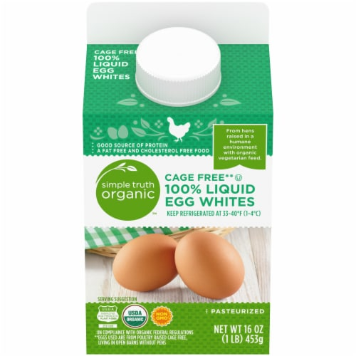 Simple Truth™ Cage Free 100% Liquid Egg Whites Carton Perspective: front