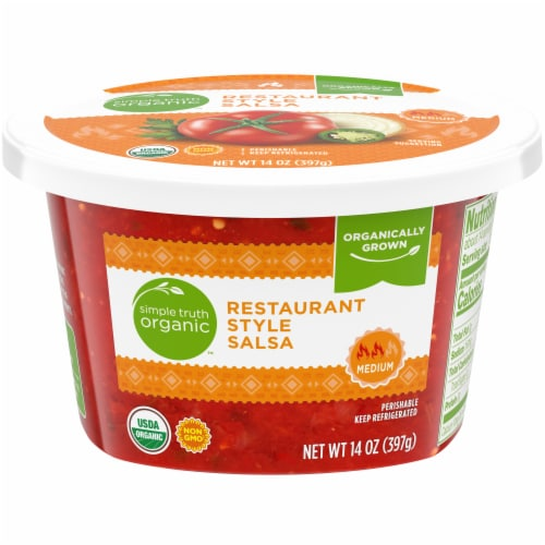 Simple Truth Organic™ Medium Restaurant Style Salsa Tub Perspective: front
