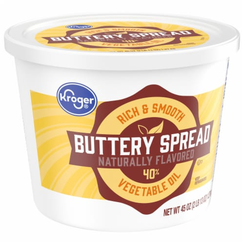 Kroger 40% Vegetable Oil Buttery Spread Tub Perspective: front