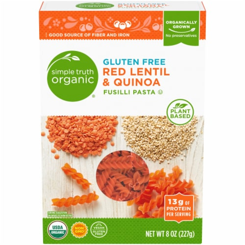 Simple Truth Organic® Gluten Free Red Lentil & Quinoa Fusilli Pasta Perspective: front