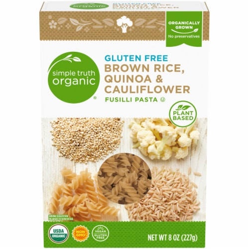 Simple Truth Organic® Gluten Free Cauliflower and Quinoa Fusilli Pasta Perspective: front