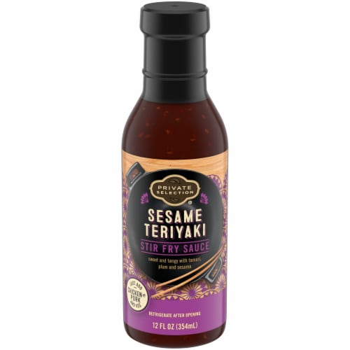 Private Selection® Sesame Teriyaki Stir Fry Sauce Perspective: front