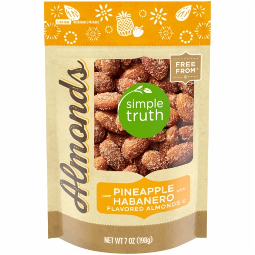 Simple Truth® Pineapple Habanero Flavored Almonds Perspective: front