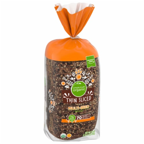 Simple Truth Organic™ Multi-Seed Thin Sliced Bread Loaf Bag Perspective: front
