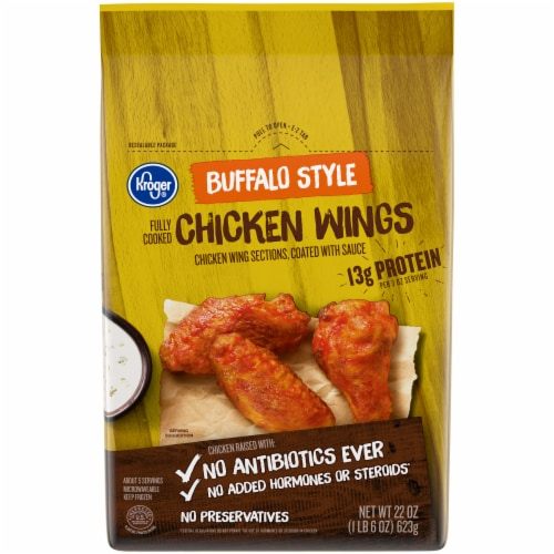 Kroger® Buffalo Style Fully Cooked Chicken Wings Perspective: front