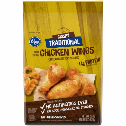 Kroger® Crispy Traditional Fully Cooked Chicken Wings Perspective: front
