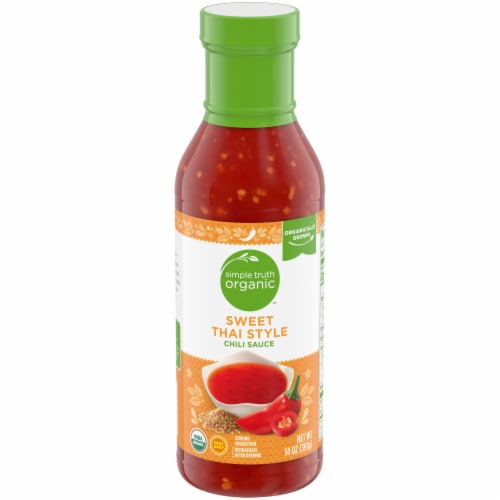 Simple Truth Organic™ Sweet Thai Style Chili Sauce Bottle Perspective: front