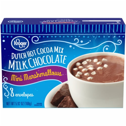 Kroger® Dutch Milk Chocolate Hot Cocoa with Mini Marshmallows Perspective: front