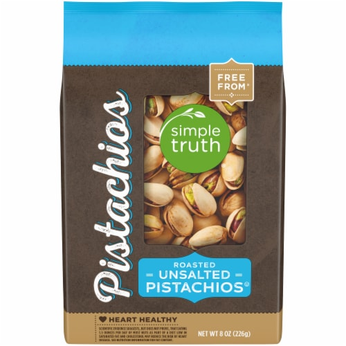 Simple Truth® Roasted & Unsalted Pistachios Perspective: front