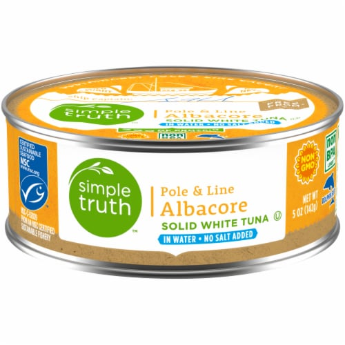 Simple Truth™ Pole & Line No Salt Added Albacore White Tuna in Water Perspective: front