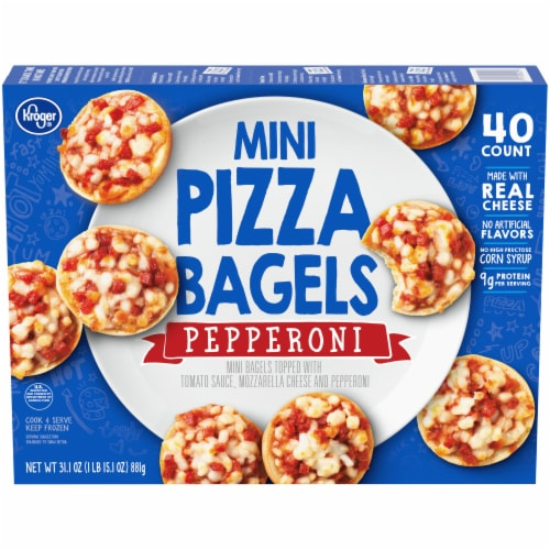 Kroger® Pepperoni Mini Pizza Bagels Perspective: front