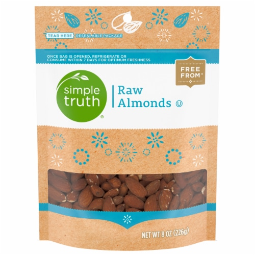 Simple Truth™ Raw Almonds Pouch Perspective: front