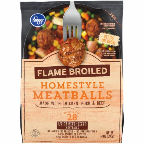 Kroger® Flame Broiled Homestyle Meatballs Perspective: front