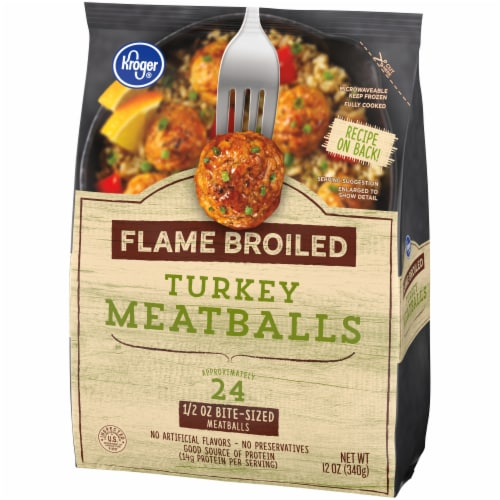 Kroger® Flame Broiled Turkey Meatballs Perspective: front