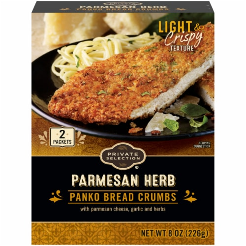 Private Selection® Parmesan Herb Panko Bread Crumbs Perspective: front