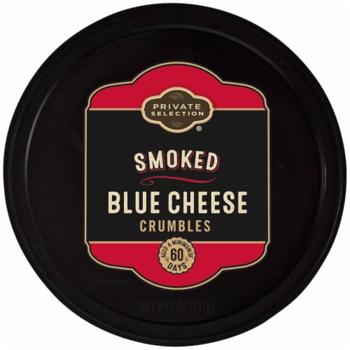 Private Selection® Smoked Blue Cheese Crumbles Perspective: front
