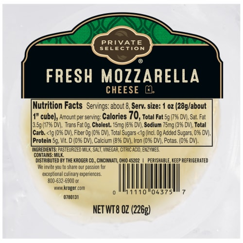 Private Selection® Fresh Mozzarella Cheese Perspective: front