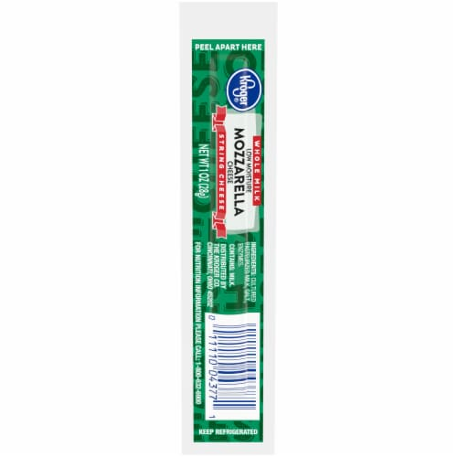 Kroger® Mozzarella Whole Milk String Cheese Perspective: front