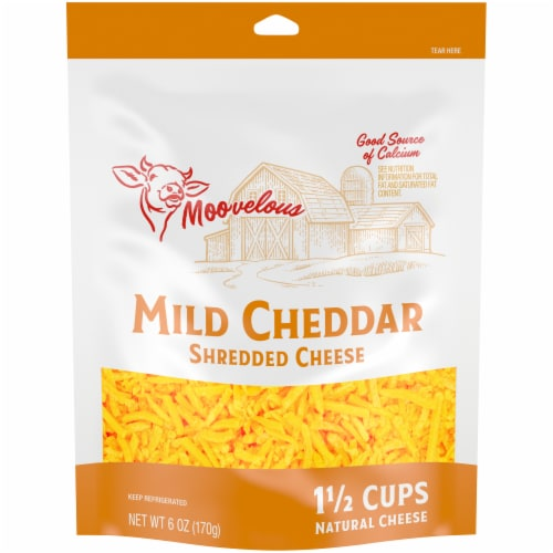 Moovelous Mild Shredded Cheese Perspective: front