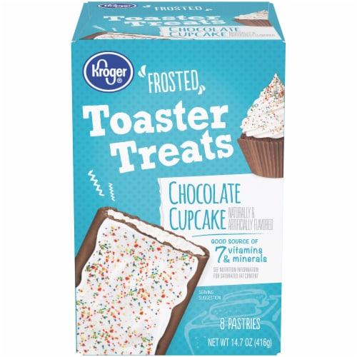 Kroger® Frosted Chocolate Cupcake Toaster Treats Pastries Perspective: front