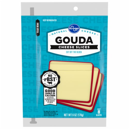 Kroger® Gouda Cheese Slices Perspective: front