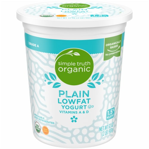 Simple Truth Organic™ Lowfat Plain Yogurt Perspective: front