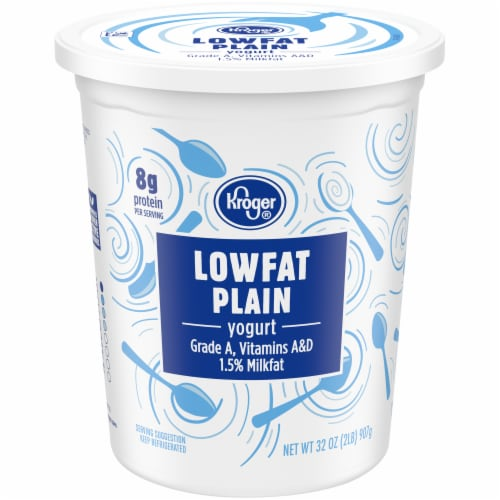 Kroger® Lowfat Plain Yogurt Perspective: front