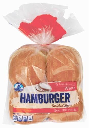 Van De Kamp's White Hamburger Buns Perspective: front