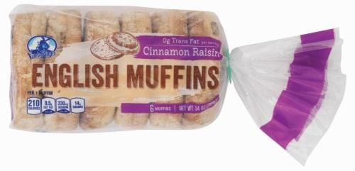 Van de Kamp's Raisin English Muffins Perspective: front