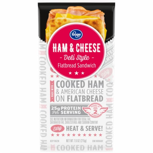 Kroger® Ham and Cheese Deli Style Flatbread Sandwich Perspective: front