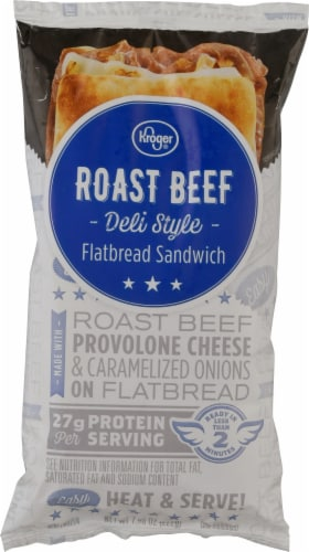 Kroger® Roast Beef Deli Style Flatbread Sandwich Perspective: front
