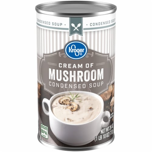 Kroger Cream of Mushroom Condensed Soup Perspective: front
