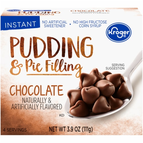 Kroger Chocolate Instant Pudding Mix Perspective: front