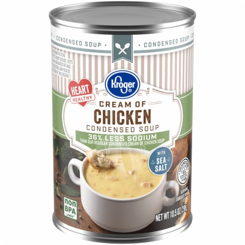 Kroger® Less Sodium Cream of Chicken Condensed Soup Perspective: front