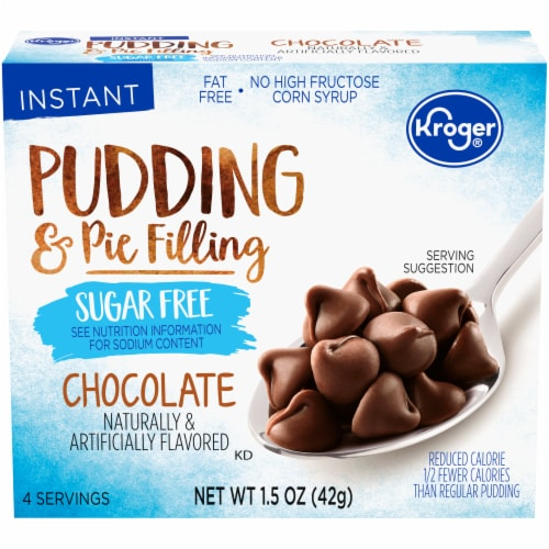 Kroger® Sugar Free Chocolate Pudding & Pie Filling Perspective: front