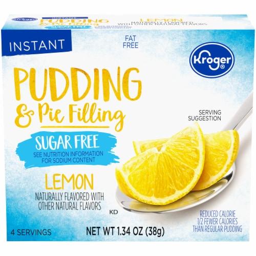 Kroger® Lemon Sugar Free Instant Pudding & Pie FIlling Mix Perspective: front
