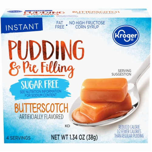 Kroger Sugar Free Butterscotch Instant Pudding Mix Perspective: front