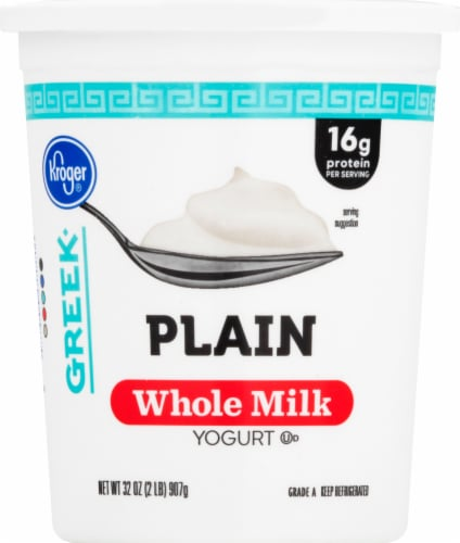 Kroger® Plain Whole Milk Greek Yogurt Perspective: front