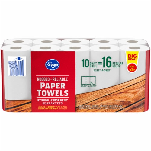 Kroger® Select-A-Sheet Rugged + Reliable Paper Towels Perspective: front