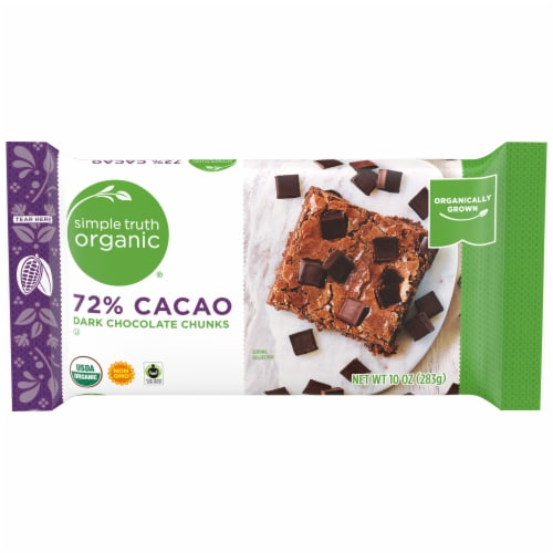 Simple Truth Organic® 72% Cacao Dark Chocolate Chunks Perspective: front