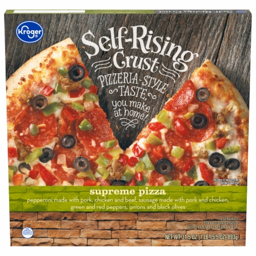 Kroger® Supreme Self-Rising Crust Frozen Pizza Perspective: front