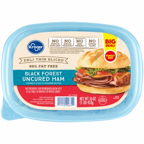 Kroger® Deli Thin Sliced Black Forest Uncured Ham Perspective: front