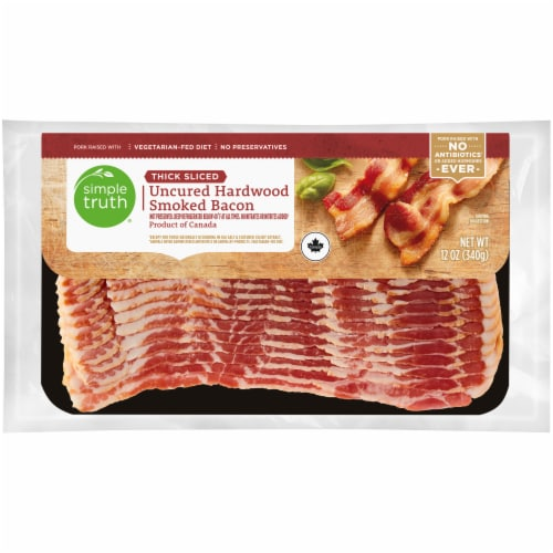 Simple Truth® Thick Sliced Uncured Hardwood Smoked Bacon Perspective: front