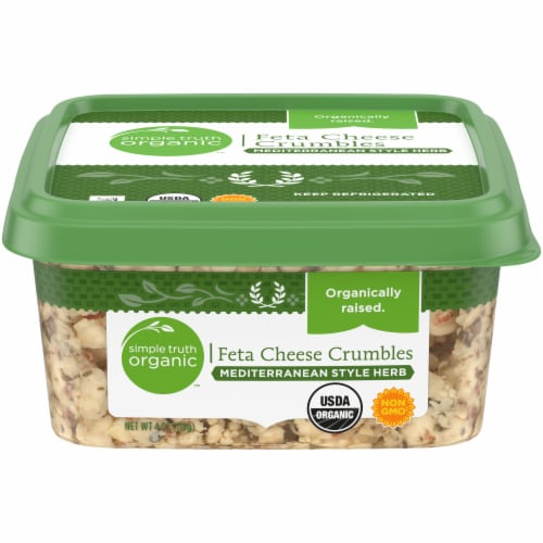 Simple Truth Organic™ Mediterranean Style Herb Feta Cheese Crumbles Perspective: front