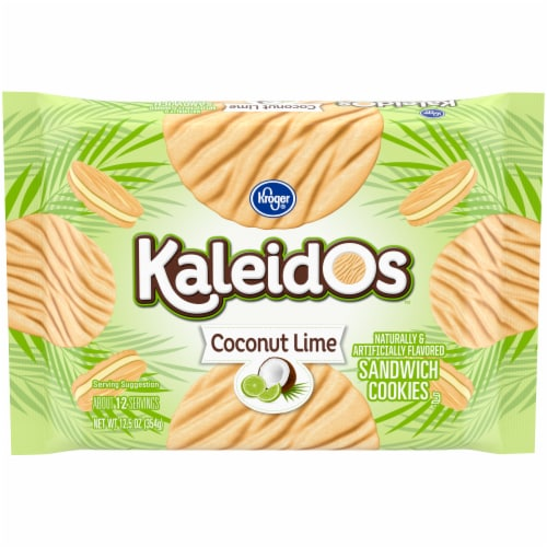 Kroger® Kaleidos™ Coconut Lime Sandwich Cookies Perspective: front