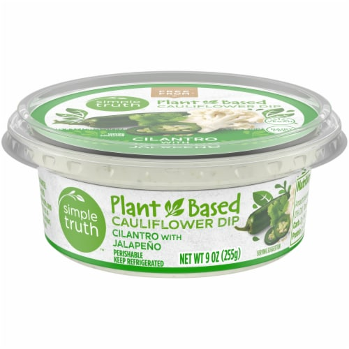 Simple Truth™ Plant Based Cilantro with Jalapeno Cauliflower Dip Perspective: front