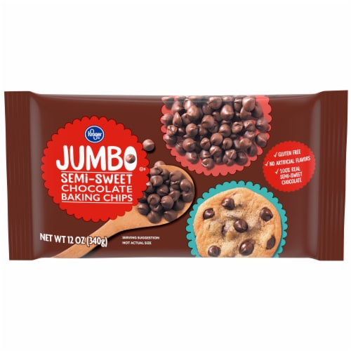 Kroger® Jumbo Semi-Sweet Chocolate Baking Chips Perspective: front